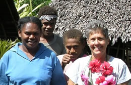 Home-Vanuatu dha with Elizabeth and 2 of the boys
